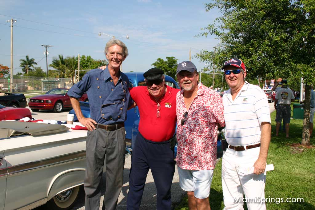 Councilman Bob Best, Local Legend Rick Shaw, Local Resident, and City Manager Jim Borgmann
