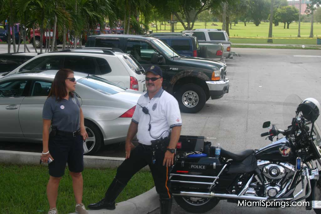 Miami Springs Officers Keeping the Parade Moving