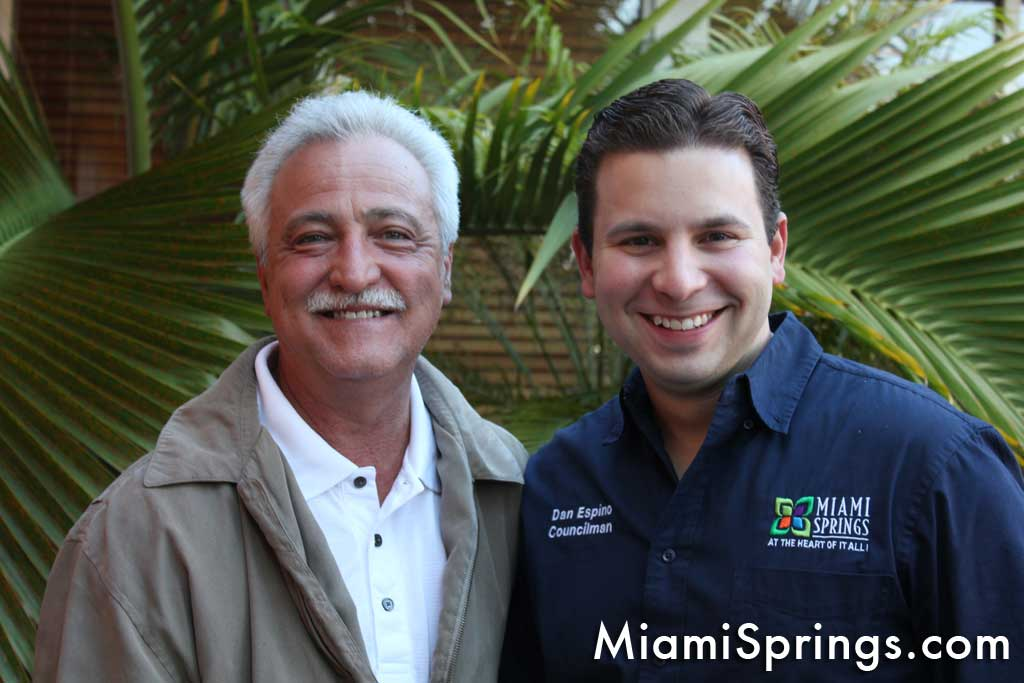 Mayor Billy Bain and Councilman Dan Espino