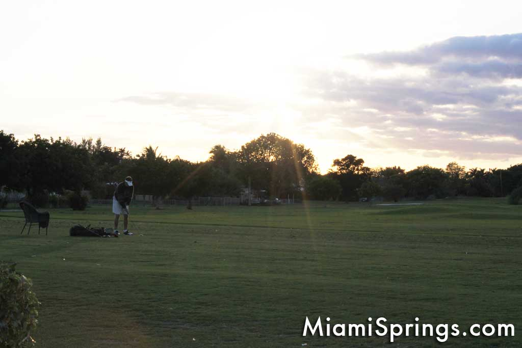 Sunset over the Miami Springs Golf Course