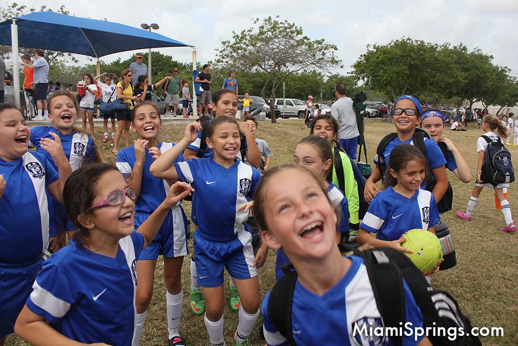 Miami Springs VG Soccer U10 Girls Champions