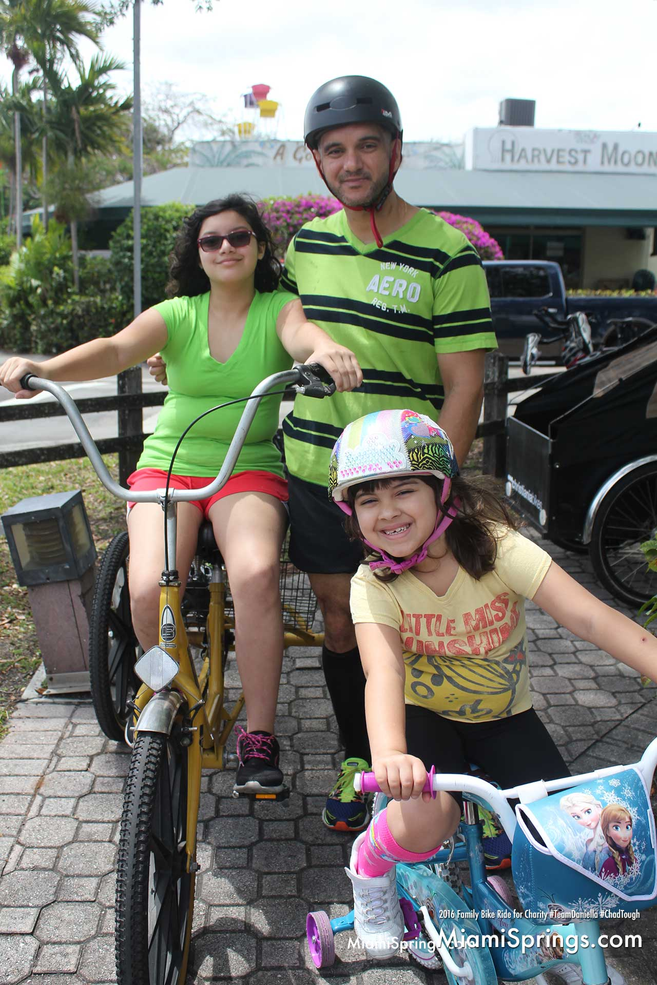 The 2nd Annual Miami Springs Family Bike Ride for Charity loves theses family smiles