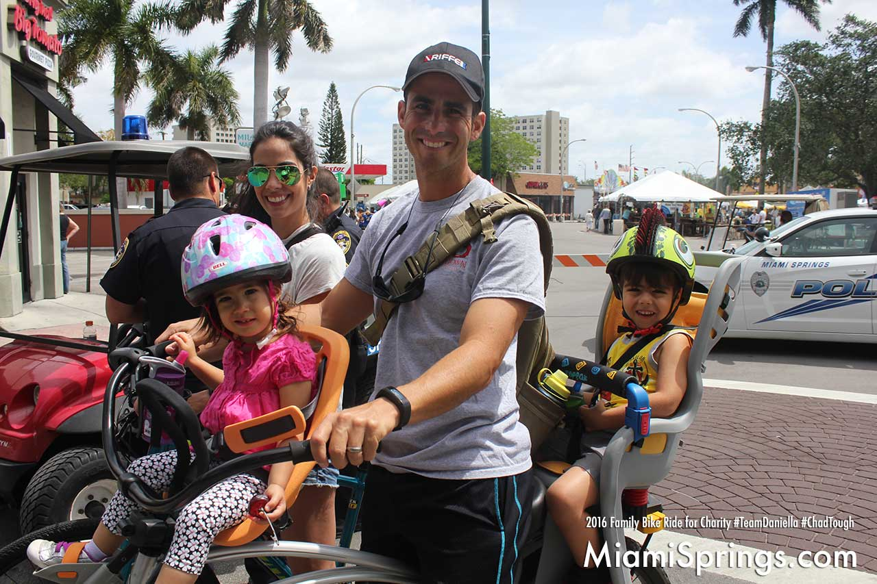 This dad's got it covered at the Family Bike Ride for Charity