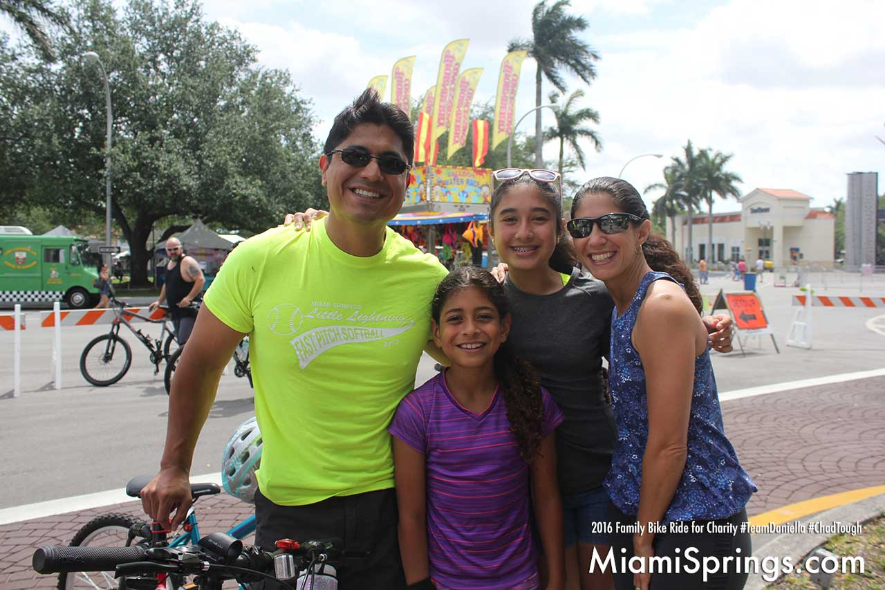 The Maestre family giving back to the community at the Family Bike Ride for Charity