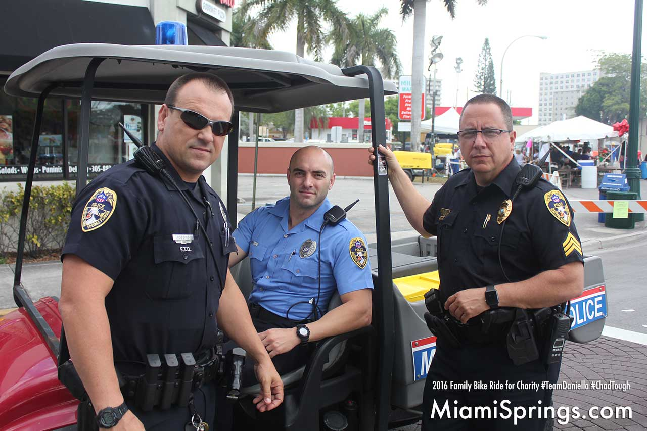 The Miami Springs Police always willing to help!