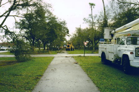 RETRO PHOTO:  Miami Springs Public Works Cleaning Up The Aftermath of The Tornado (Circa '98)