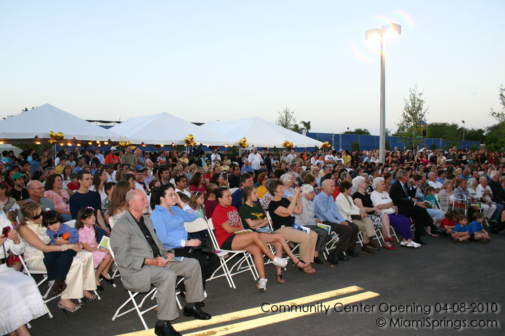 Crowd at the Community Center Grand Opening