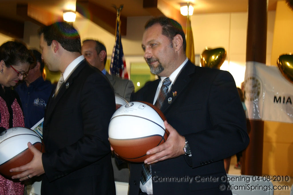 George Lob with a Commemorative Basketball