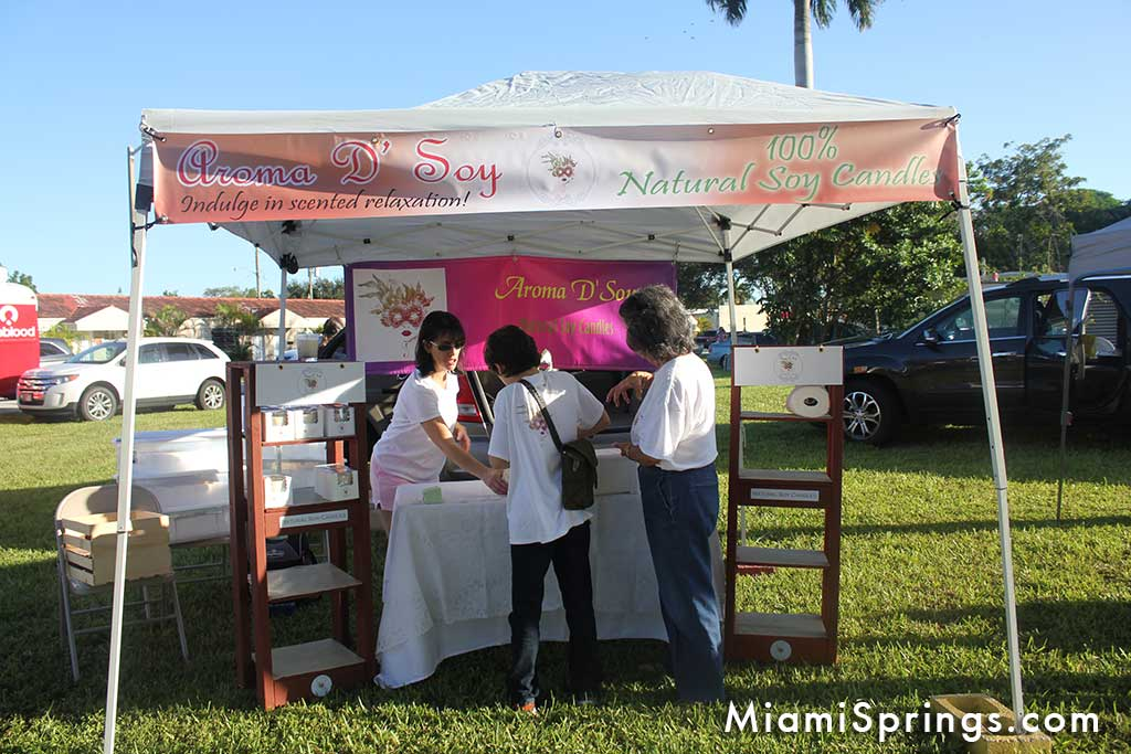 Aroma D Soy at the Miami Springs Farmers Market