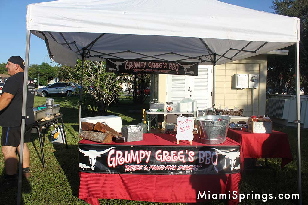 Grumpy Greg's BBQ at the Miami Springs Farmers Market