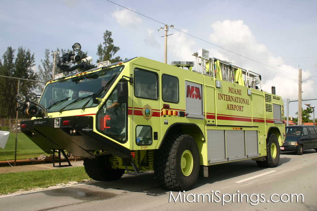 Miami International Airport Emergency Fire Vehicle