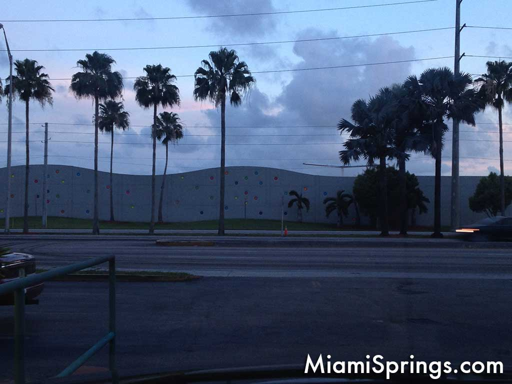 Miami International Airport Wall as viewed from Miami Subs Drive Thru in V.G.