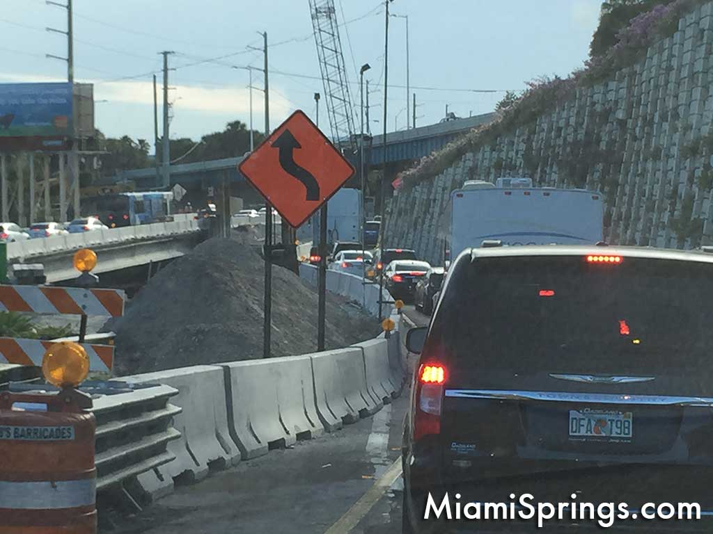 Road construction on 36 St and Miami River
